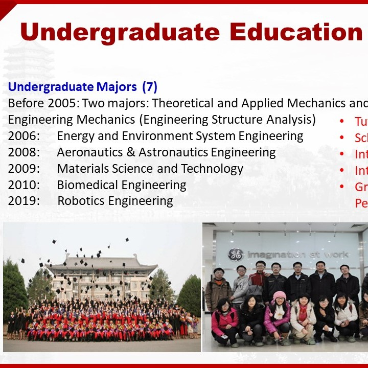 COE makes a briefing of undergraduate programs for the first-year undergraduate students